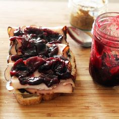 Savory Cherry Jam. Liberate your turkey sandwich from the clutches of mediocrity…