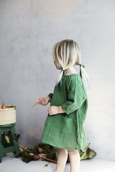 gemma dress in clover green gauze