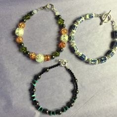 Handmade bracelets Turquoise, Swarovski crystals, porcelain, Glass very nice !!! TAKE ADVANTAGE OF THIS PRICE DROP Other