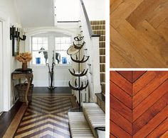 Yes please. Chevron wood floors in entry way.