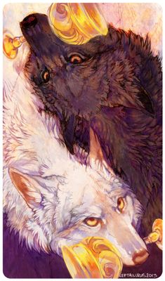Two of Cups by Victoria Gannon / leptailurus-serval