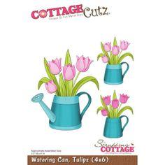 Cottage Cutz Watering Can Tulips Gießkanne von Prell Versand auf DaWanda.com