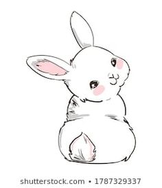 Bunny Sketches, Art Drawings Sketches, Easy Drawings, Bunny Book, Bunny Art, Cute Animal Drawings, Animal Sketches, Logo Animal, Chat Kawaii