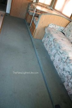 How to Replace RV Flooring on a Raised Slide Very gd info Camper Flooring, Rv Camping, Glamping, Camping Ideas, Camping Hacks, Camping Stuff, Outdoor Camping, Camping Chair, Camping Recipes