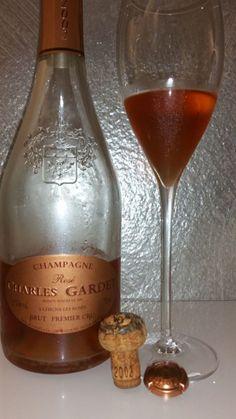 Charles Gardet, Rosé de Saignée brut 1er Cru millésimé 2002 Rose, Champagne, Bottle, Drinking, Pink, Flask, Roses, Jars