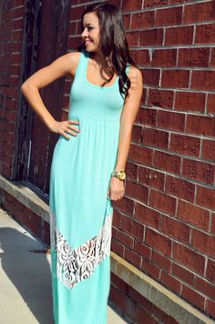 Mint Maxi with lace