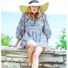 """BELL on Instagram: """"Weekend #style #ootd #BELL #blockprint cotton voile dress from our new collection #beachstyle #travel #vacation #love #boho #madeinusa #resort #resortwear #fashion #beachwear #happiness #gorgeous #beaches"""""""