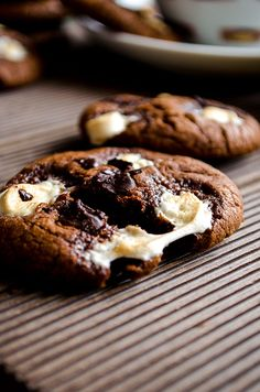 Marshmallow Double Chocolate Chip Cookies