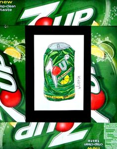 """""""pop"""" art/ drawing/ frame from pop box... a fun twist to still-life."""