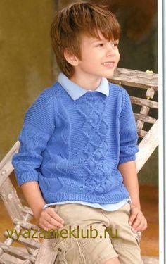 Пуловер спицами для мальчика - Для мальчиков - Каталог файлов - Вязание для детей