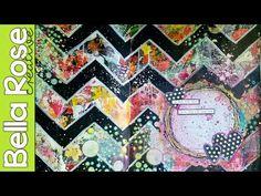 Collage & Stencils - Mixed Media Art Journal - YouTube