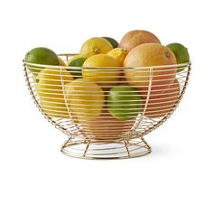 Ideal for displaying on your countertop or dining table, this wire basket stores fresh fruits from the market as they ripen to perfection. Wire Basket Decor, Wire Fruit Basket, Fruits Basket, Basket Decoration, Wire Baskets, Fruits And Vegetables Images, Fruits Images, Vegetables List, Fruit Company