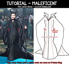 FIGURINO: Maleficent (2014) - COMO FAZER? cosplay Maleficent, o Filme - H-SAMA blog