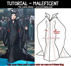 FIGURINO: Maleficent (2014) - COMO FAZER? cosplay Maleficent, o Filme - H-SAMA blog