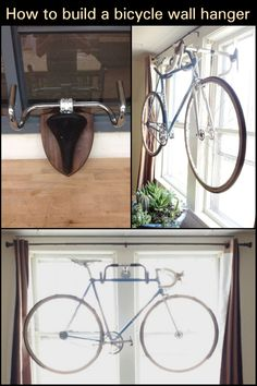 Good wall-mounted bike storage racks usually cost around $30 to $50. Save your money and instead make your own. This DIY handlebar bike rack is so easy to do and costs next to nothing! Wall Mounted Bike Storage, Bike Storage Rack, Bike Rack, Bicycle Wall Hanger, Countdown Timer, Saving Ideas, Stick It Out, Cool Walls
