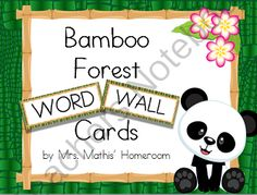 Bamboo Forest (Panda Theme) Word Wall from Mrs. Mathis' Homeroom on TeachersNotebook.com (22 pages)  - Everything you need to set up a panda themed word wall Small Letters, Small Words, New Classroom, Classroom Themes, Panda Love, Panda Bear, Rainforest Classroom, Theme Words, Panda Party