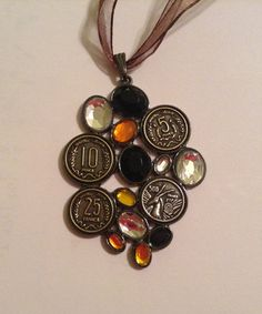 Vintage French Style Necklace on Ribbon by BuyTheBeachBoutique, $18.00