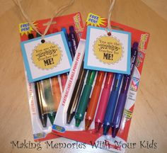 Back to School Teacher Gift - Making Memories With Your Kids