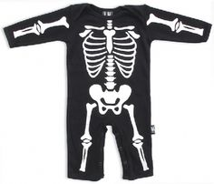 Skeleton print playsuit.  http://bumpandbunny.com/collections/six-bunnies