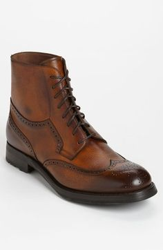 Free shipping and returns on Sassetti Wingtip Boot at Nordstrom.com. Vintage-inspired brogue detailing and finely burnished leather structure a cool wingtip with a sleek silhouette.