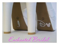 Disney Inspired I Do Shoe Stickers You Pick Color Sparkly Vinyl Wedding Shoe Decals. $5.99, via Etsy.