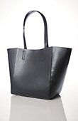 structured leather tote | J.Jill