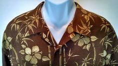 Tommy Bahama XL Hawaiian Style Silk Shirt Bamboo. Perfect For Summer Time Fun #TommyBahama #ButtonFront