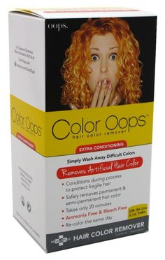 Beautiful Oops Hair Color Remover Red Hair