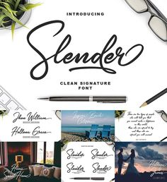 Introducing Slender clean Signature font. Inspired by signature and stylish handwriting, Slender font is good for logotype, wedding invitation design, badge, headline, signature, packaging and any more. Free for download. For personal use. File format: .otf, .ttf for Photoshop or other software. File size: 1 Mb.