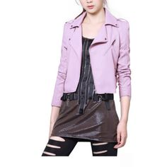 2012 Fall and Winter New Arrivals Purple Lapel Locomotive Short Style PU Leather Jacket,Wendybox Faux Leather Jackets, Pu Leather, Fashion Outfits, Purple, Locomotive, Clothes, Fall, Winter, Style