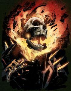 Ghost Rider by krissthebliss Ghost Rider Johnny Blaze, Ghost Rider Marvel, Marvel Dc Comics, A Comics, Comic Books Art, Comic Art, Punisher Cosplay, Flame Art, Spirit Of Vengeance