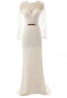 Changjie Frauen Open Back Braut Abendkleid mit langen ?rmeln Hochzeitskleid f¨¹r Frauen Changjie http://www.amazon.de/dp/B00WTS241Y/ref=cm_sw_r_pi_dp_qCq9wb1FRG8KG