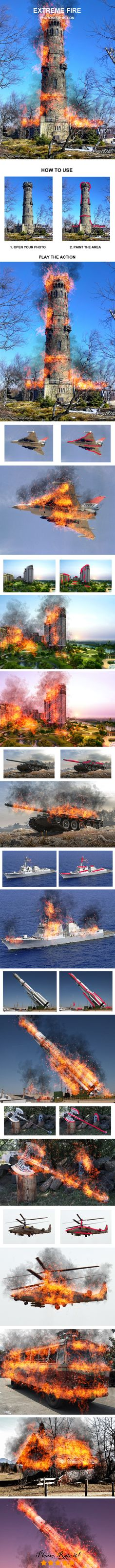Extreme Fire Photoshop Action