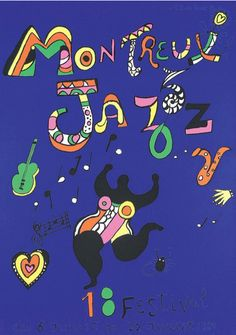 Poster by Niki de Saint Phalle (1930-2002), 1984, 18e Jazz Festival Montreux.