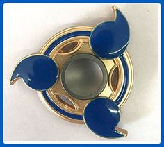 """Naruto Inspired Metal Fidget Spinner - Sharingan Design Blue & Gold Hand Spinner for ADD/ADHD, Anxiety Plus """"10 Tips for the ADHD Survivor"""" - Fidget spinner (*Amazon Partner-Link)"""