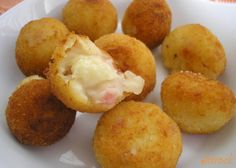 Love cooking: croquettes smoked bacon and caramelized onion