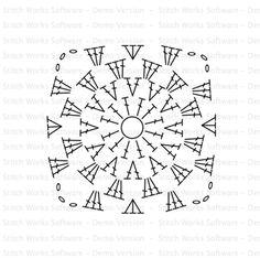 Color 'n Cream Crochet and Dream: Tutorial Flower Square V