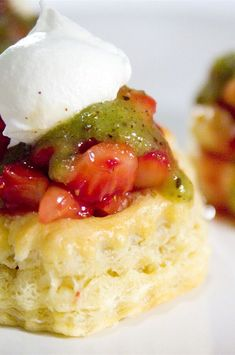 "Strawberry Kiwi Tartlets | ""These were great and really easy to make."" #easy #easyrecipes #quickandeasy #easyrecipesideas Sweet Recipes, Easy Recipes, Making Whipped Cream, Pastry Shells, Creamed Honey, Cream And Sugar, Quick Easy Meals, Tea Party"