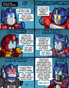 Yea Optimus in the movie is right ! I sorta grew up with the transformers movies