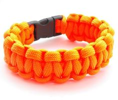Children's / Youth 550lb Paracord Cobra Weave Bracelet with Breakaway Plastic Buckle-19 Colors by Para-Cord-Belts