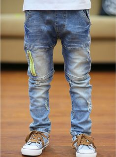High Quality New children jeans boy's trousers Korean version kids denim pants