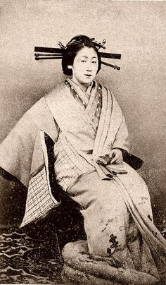 A Yujo 1870s    A carte de visite of a Yujo (Lady of Pleasure).