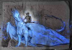 Incredible Inheritance artwork by Polina Andreeva ( - Saphira and Eragon Magical Creatures, Fantasy Creatures, Fantasy Dragon, Fantasy Art, Dragons, Inheritance Cycle, Dragon Artwork, Dragon Rider, Dragon Design
