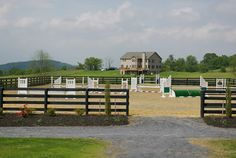My house also has a large Grand Prix outdoor riding arena in which I can train my sport horses on the flat or over fences.