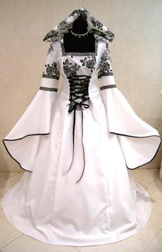 Gothic medieval wedding or handfasting dress…