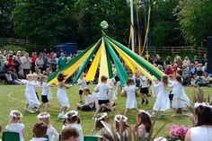 """""""Dance Around a Maypole for May Day! (instructions included)"""" Honoring ancient traditions and celebrating spring."""