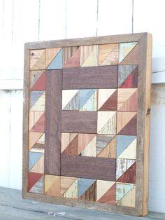 monogram letter block barn board letter by IlluminativeHarvest