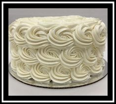 White Buttercream, Buttercream Filling, Frosting, Marble Cake, Holiday Cakes, Round Cakes, Classic Collection, Rosettes, Vanilla Cake