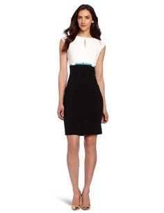 Calvin Klein Women's Ponte Polyesterester Career Dress, Ivory/Black, 12 Calvin Klein,http://www.amazon.com/dp/B008MVSRO0/ref=cm_sw_r_pi_dp_OAi1qb1W1QP70HN8