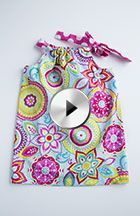 This adorable pillowcase dress is fun and simple to make, and would work great for an Easter dress!